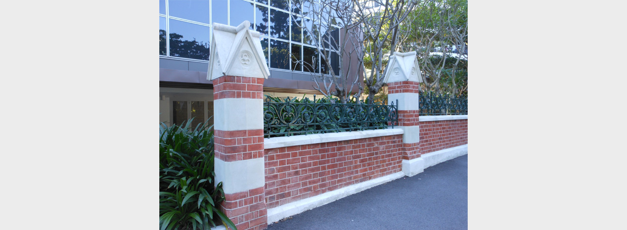 Garth House Remnant Fence Mcmillan Heritage Plastering